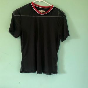 Ultra flirt black mesh shirt
